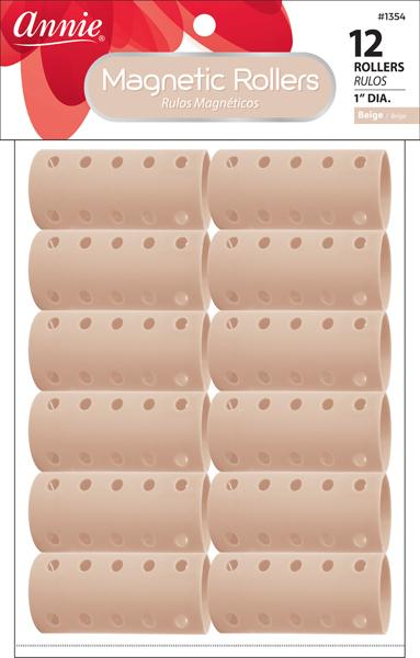 #1354 Annie Beige Magnetic Rollers (12Pk)