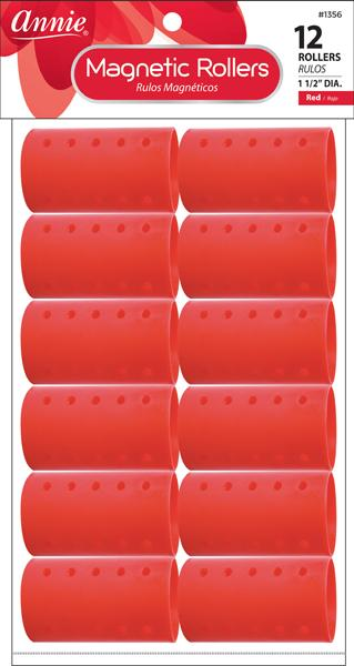 #1356 Annie Red Magnetic Rollers (12Pk)