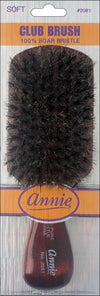 #2081 Annie Soft 100% Boar Club Brush (12Pk)