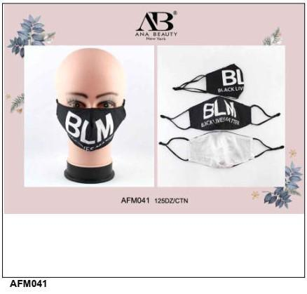 BLM Letters Face Mask #AFM041 (12PC)