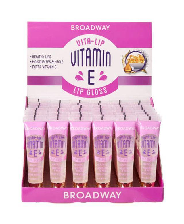 Broadway Vita-Lip Lipgloss Vitamin E Oil Set (48PC)
