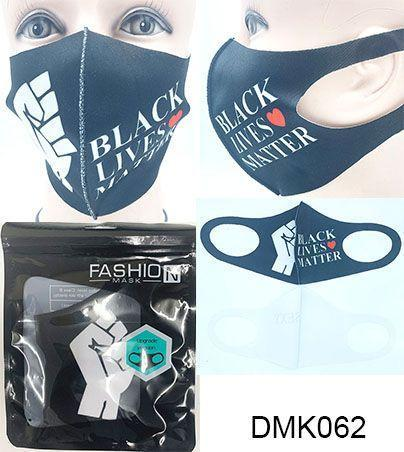 BLM Fist Polyester Face Mask #DMK062 (12PC)