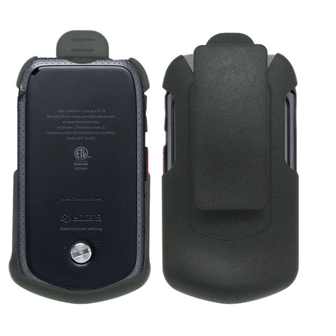Black Holster w/ Ratcheting Belt Clip for Sprint Kyocera DuraXTP (E4281)