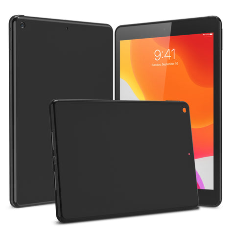 "Matte Black Flex-Gel Silicone TPU Case for iPad 8th & 7th Generation 10.2"" (2020, 2019)"