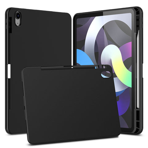 Matte Black Flex-Gel Silicone TPU Case for Apple iPad Air 4th Generation (2020)