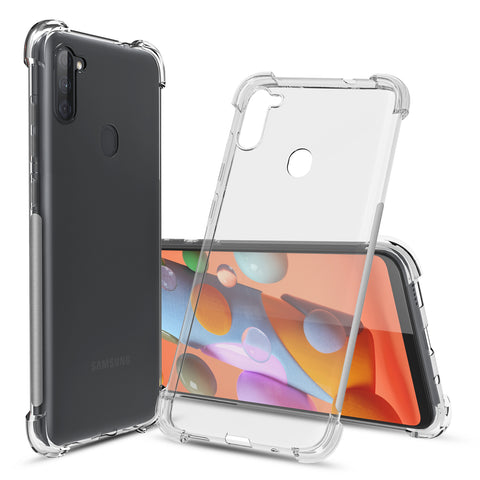 Flex-Gel Silicone TPU Case for Samsung Galaxy A11 (Clear)