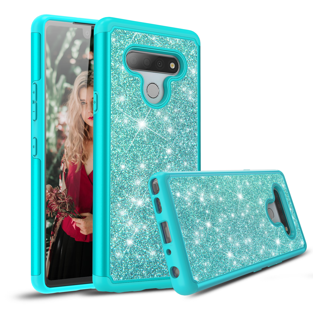 Sparkling Glitter Case for LG Stylo 6 (Teal)