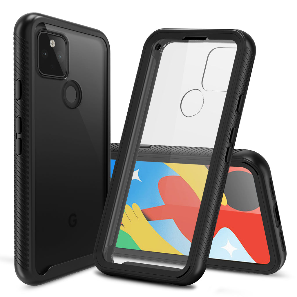 Heavy-Duty Case with Built-in Screen Protector for Google Pixel 4a (5G)