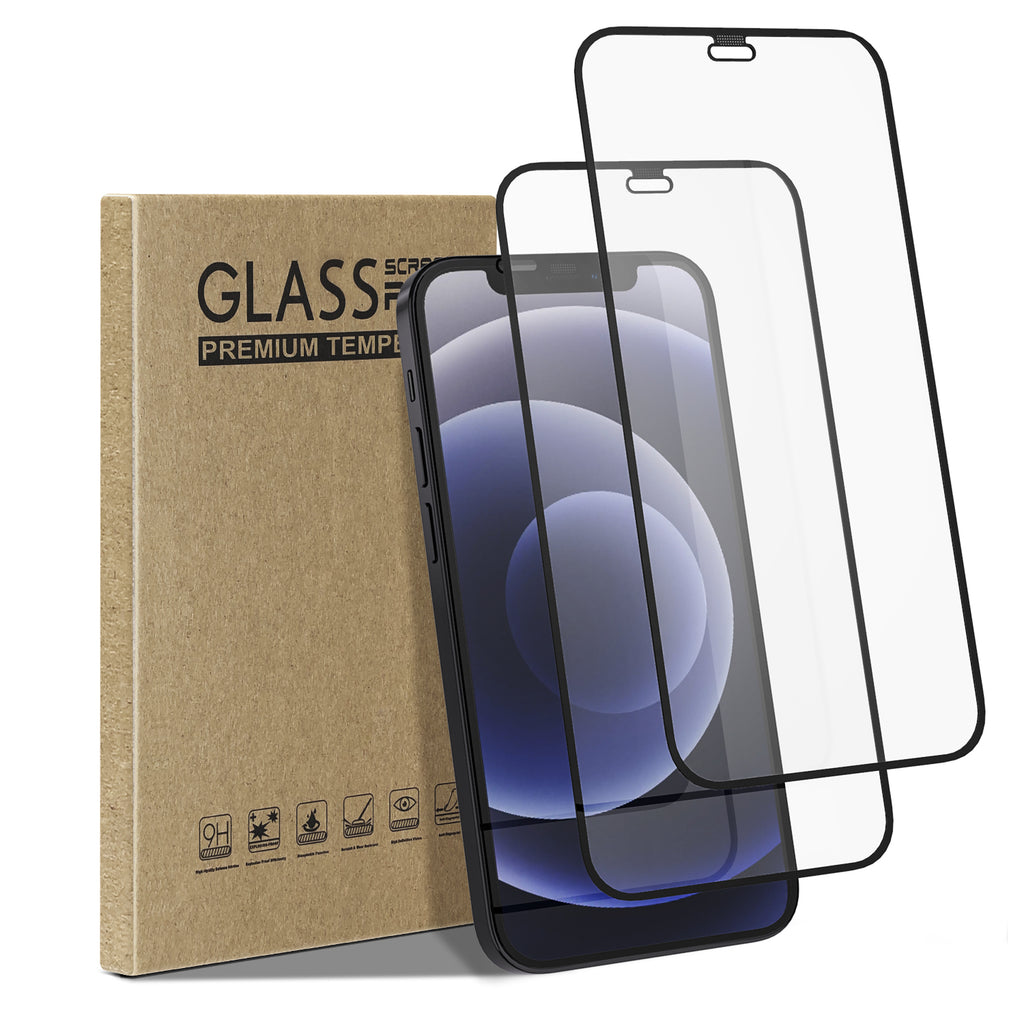 [2 Pack] Tempered Glass Screen Protector for iPhone 12