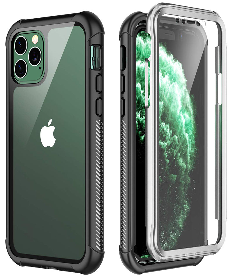 Heavy-Duty Case with Built-in Screen Protector for iPhone 11 Pro Max