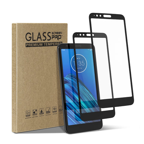 [2 Pack] Tempered Glass Screen Protector for Motorola Moto E6