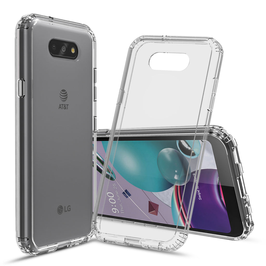 Clear Hard Case Cover for LG Phoenix 5, Fortune 3, and Risio 4