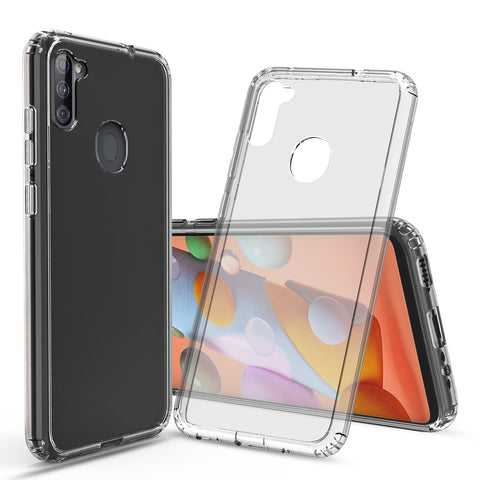 Clear Hard Case Cover for Samsung Galaxy A11