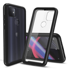 Heavy-Duty Case with Built-in Screen Protector for T-Mobile Revvl 4 Plus