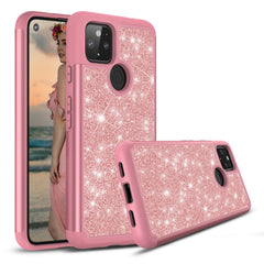 Sparkling Glitter Case for Google Pixel 4a (5G) - Pink Rose Gold