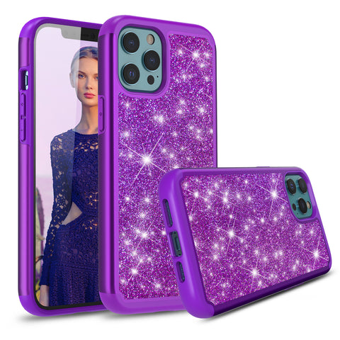 Sparkling Glitter Case for iPhone 12 Pro (Purple)