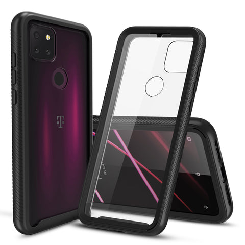 Heavy-Duty Case with Built-in Screen Protector for T-Mobile Revvl 5G