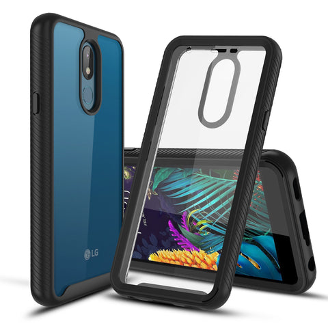 Heavy-Duty Case with Built-in Screen Protector for LG Arena 2, Tribute Royal, K30 (2019), LG Journey LTE, Escape Plus