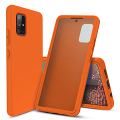 Full Body Case with Built-in Screen Protector for Samsung Galaxy A71 5G (Orange)