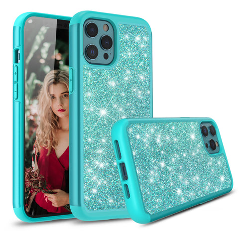 Copy of Sparkling Glitter Case for iPhone 12 Pro (Teal)