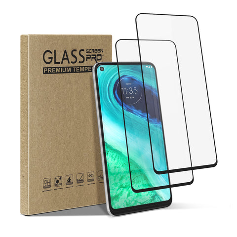 [2 Pack] Tempered Glass Screen Protector for Motorola Moto G Fast