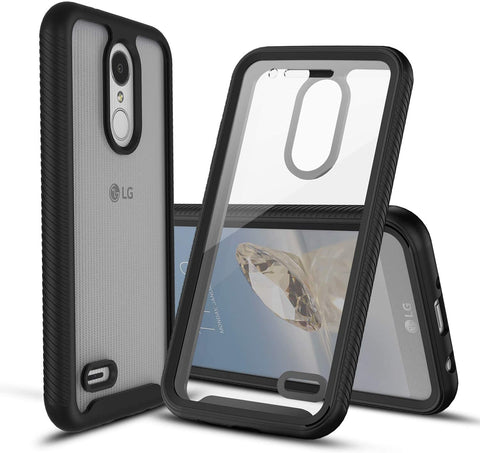 Heavy-Duty Case with Built-in Screen Protector for LG Fortune 2, Risio 3, K8+, K8 (2018)