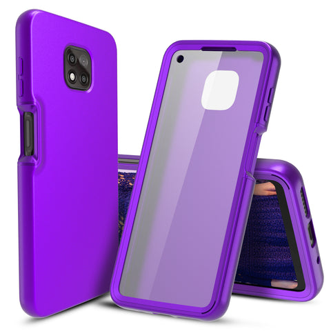 Full Body Case with Built-in Screen Protector for Motorola Moto G Power (2021) (Purple)