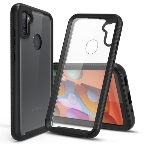 Heavy-Duty Case with Built-in Screen Protector for Samsung Galaxy A11