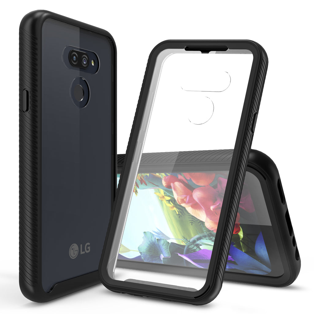 Heavy Duty Case Built-in Screen Protector for LG Xpression Plus 3