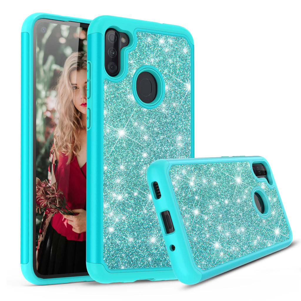 Sparkling Glitter Case for Samsung Galaxy A11 (Teal)