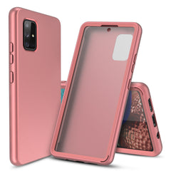 Full Body Case with Built-in Screen Protector for Samsung Galaxy A71 5G (Pink Rose Gold)