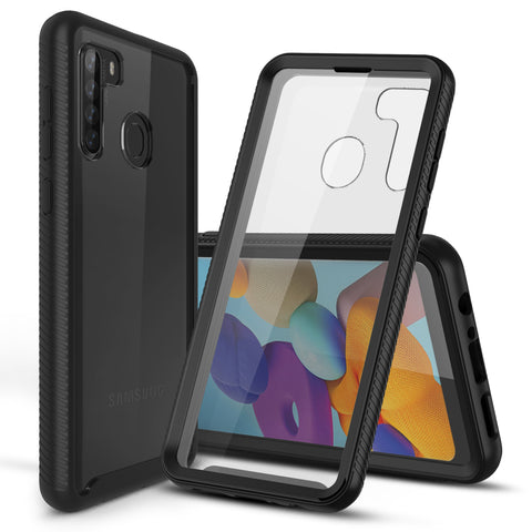Heavy-Duty Case with Built-in Screen Protector for Heavy-Duty Case for Samsung Galaxy A21