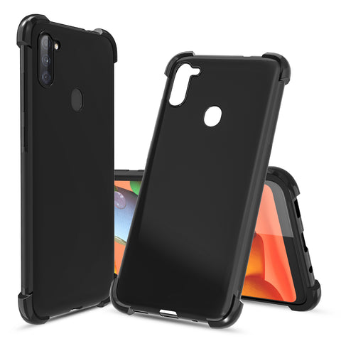 Flex-Gel Silicone TPU Case for Samsung Galaxy A11 (Black)