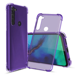 [3-Pack] Flex-Gel Silicone TPU Case for Motorola Moto G Stylus (Purple, Turquoise, Green)