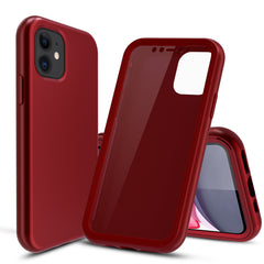 Red Silicone Case with Built-in Screen Protector for iPhone 11