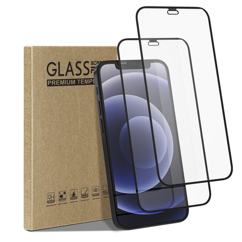 [2 Pack] Tempered Glass Screen Protector for iPhone 12 mini
