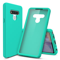 Silicone Case with Built-in Screen Protector for LG Stylo 6 (Pastel Mint)