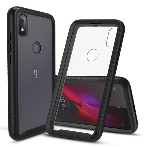 Heavy-Duty Case with Built-in Screen Protector for T-Mobile Revvl 4