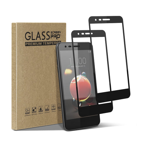 [2 Pack] Tempered Glass Screen Protector for LG Arena 2, Tribute Royal, K30 (2019), LG Journey LTE, Escape Plus