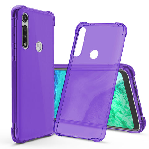 Flex-Gel Silicone TPU Case for Motorola Moto G Fast (Purple)