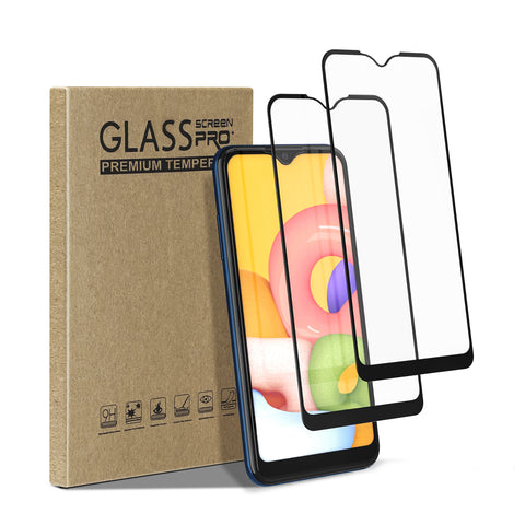 [2 Pack] Tempered Glass Screen Protector for Samsung Galaxy A01
