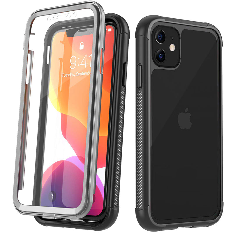 Heavy-Duty Case with Built-in Screen Protector for iPhone 11