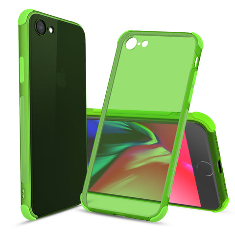 Ultra-Thin Flexible TPU Bumper Case for iPhone SE (2020), iPhone 8, iPhone 7  (Green)