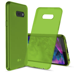 [3-Pack] Flex-Gel Silicone TPU Case for LG G8X ThinQ (Purple, Turquoise, Green)