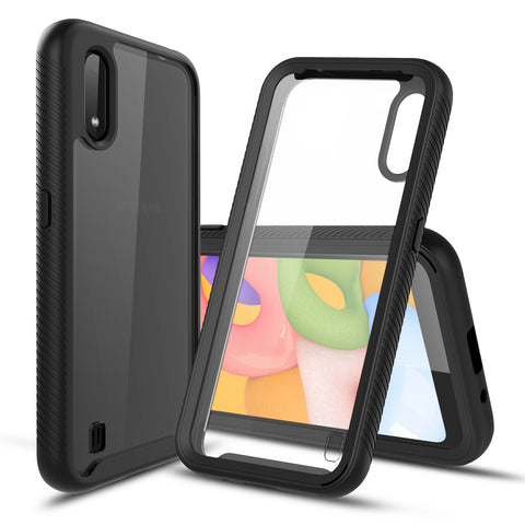 Heavy-Duty Case with Built-in Screen Protector for Samsung Galaxy A01