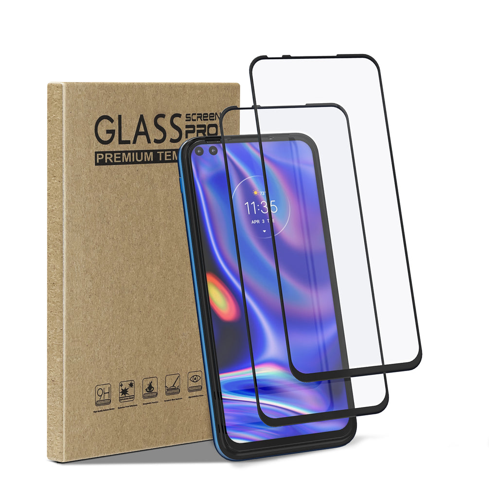 [2 Pack] Tempered Glass Screen Protector for Motorola One 5G