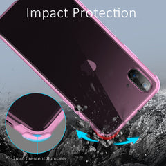 Ultra-Thin Flexible Silicone Bumper Case for iPhone XS, iPhone X (Pink)