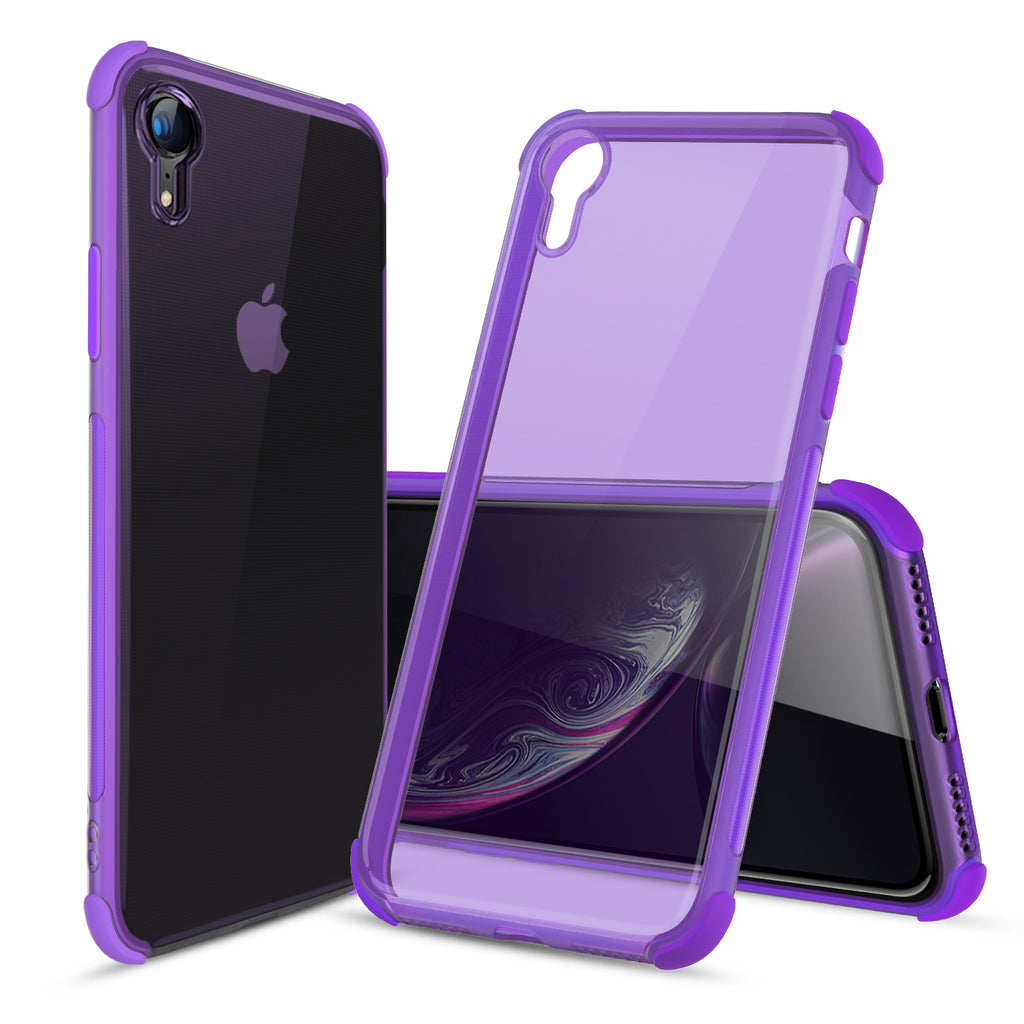 Ultra-Thin Flexible TPU Bumper Case for iPhone XR (Purple)