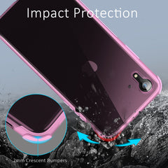 Ultra-Thin Flexible TPU Bumper Case for iPhone XR (Pink)