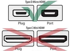 10ft HDMI to Micro HDMI Cable for GoPro, Sony, Canon, Panasonic LUMIX